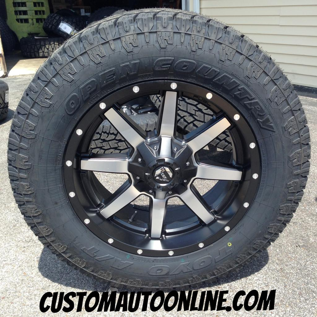 20x9 Fuel Offroad Maverick D537 Black and Machined - LT275/65r20 Toyo Open Country AT2