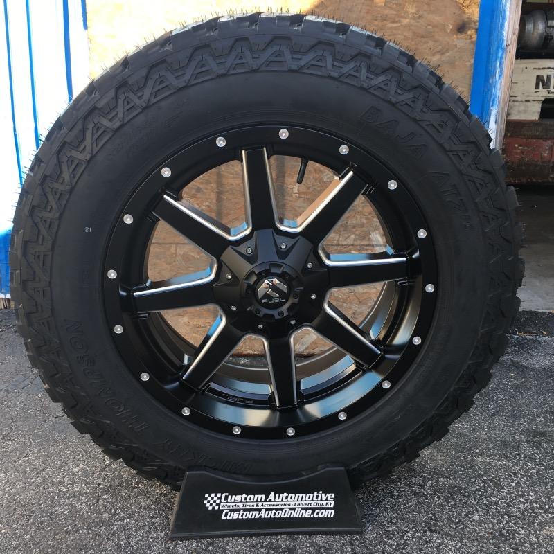 20x9 Fuel Maverick D538 Black - LT275/65r20 Mickey Thompson ATZ P3