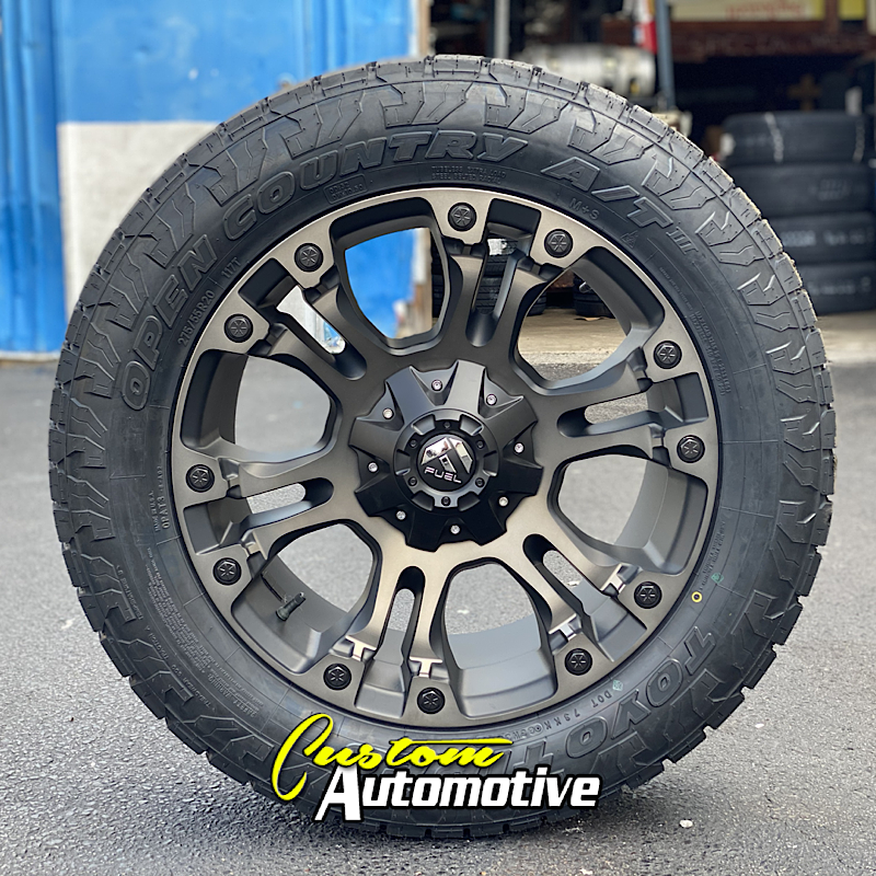 20x9 Fuel Vapor D569 Black and Machined with Dark Tint - 275/55r20 Toyo Open Country AT3
