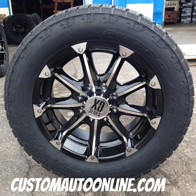 20x9 KMC XD Badlands 779 Black - 305/50r20 Nitto Terra Grappler G2