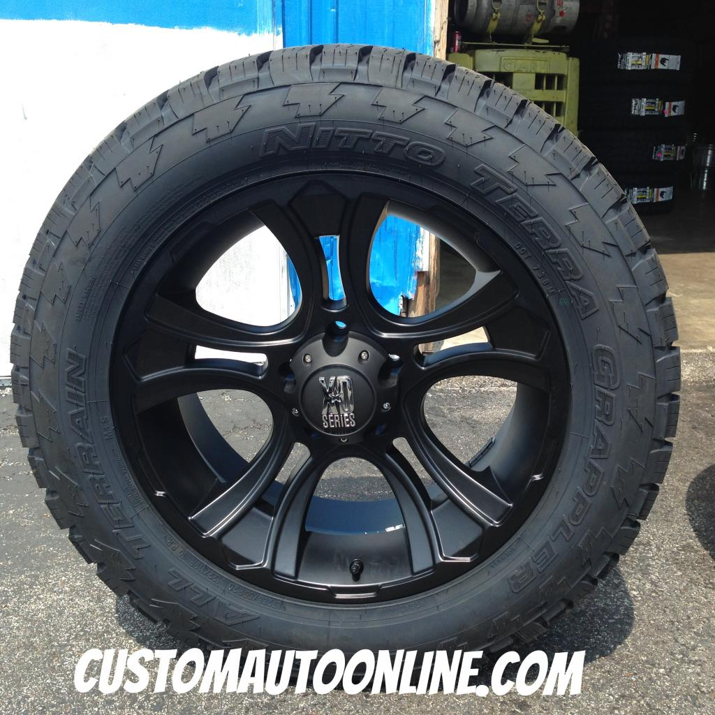 20x9 KMC XD Series Crank 801 Black - LT285/55r20 Nitto Terra Grappler