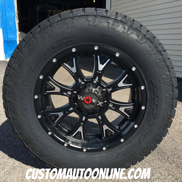 20x9 Worx Tyrant 805 Black and Milled - LT285/65r20 Nitto Terra Grappler G2