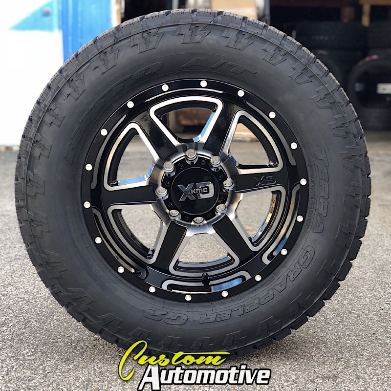 20x9 XD Fusion 832 Black and Machined - 35x12.50r20 Nitto Terra Grappler G2