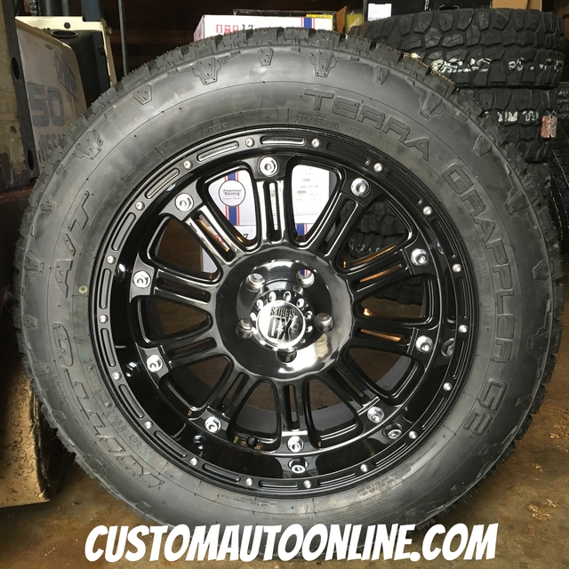 20x9 XD Hoss 795 Black - 275/55r20 Nitto Terra Grappler G2