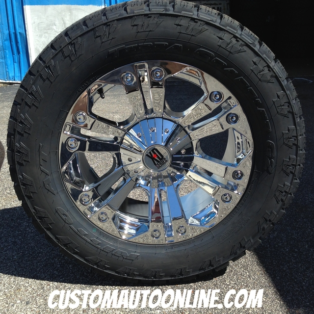 20x9 XD Monster 778 Chrome - LT305/55r20 Nitto Terra Grappler G2