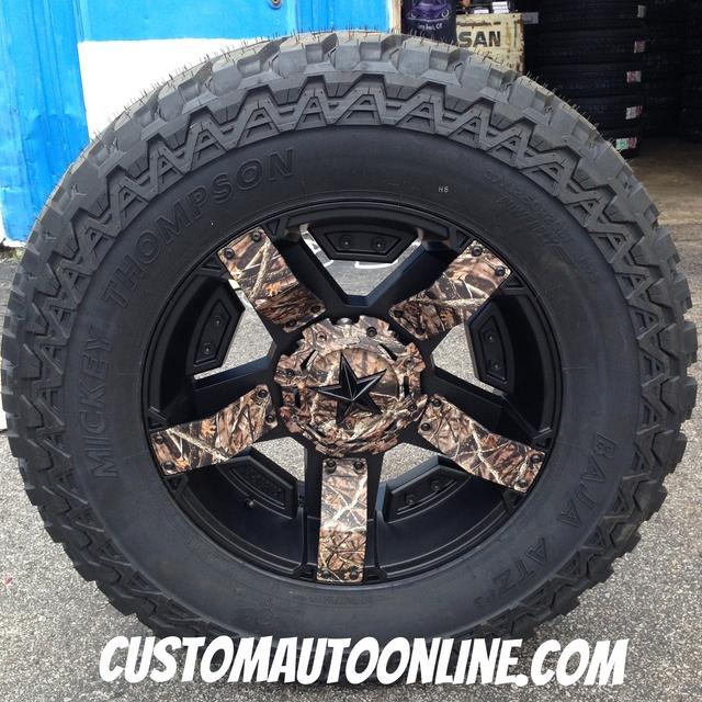20x9 XD Rockstar II RS2 811 Black with Camo - 37x12.50r20 Mickey Thompson ATZ P3