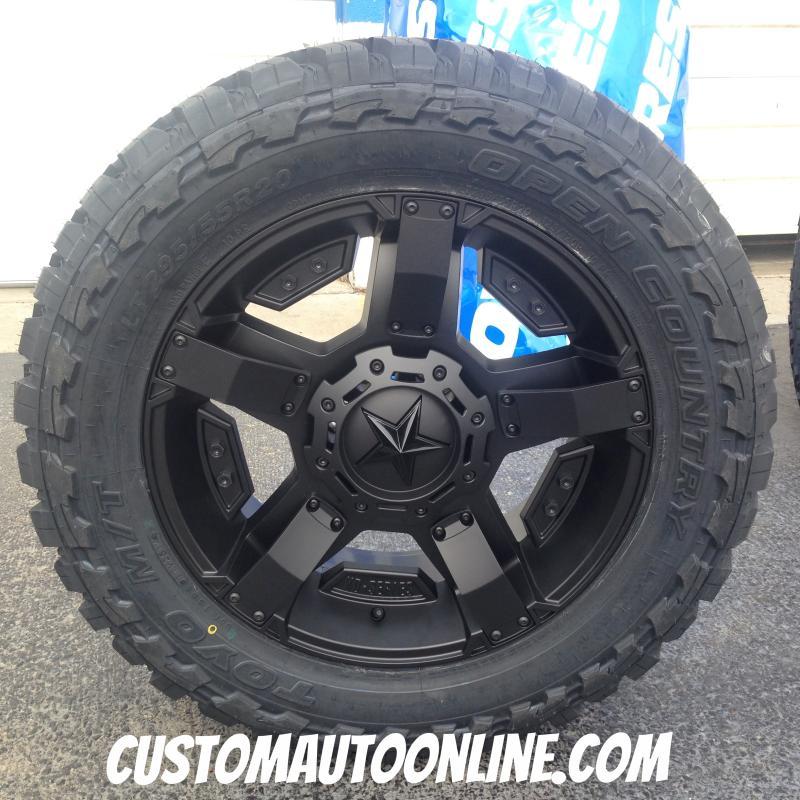20x9 XD Rockstar II RS 2 811 Black - LT295/55r20 Toyo Open Country MT