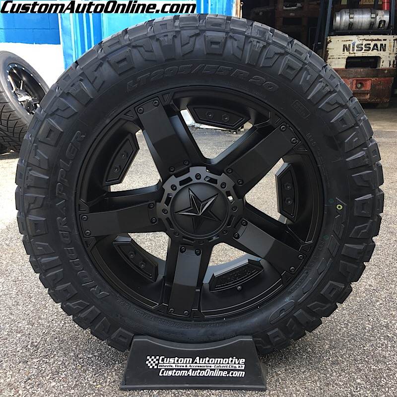 20x9 XD Rockstar II RS 2 811 Black - LT295/55r20 Nitto Ridge Grappler