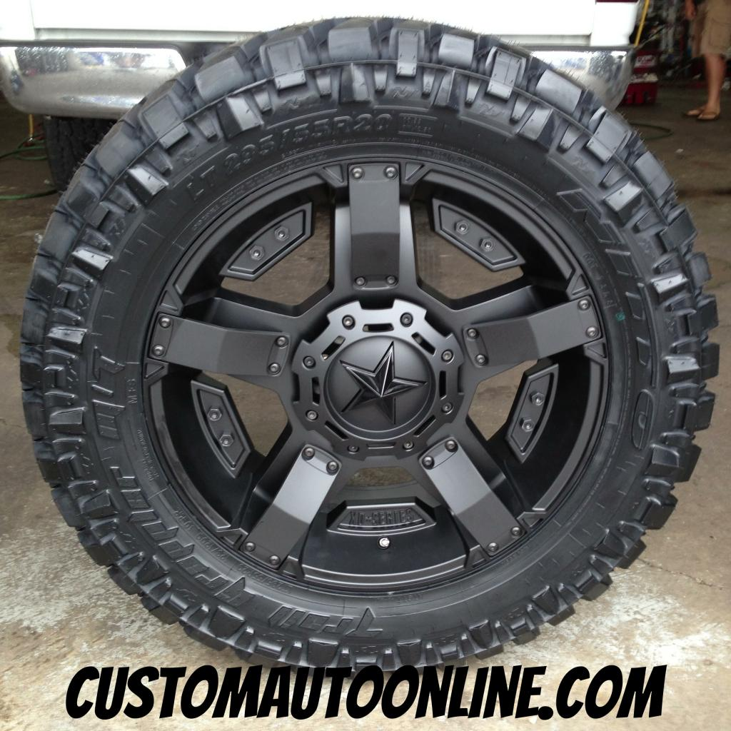 20x9 XD Rockstar II RS 2 811 Black - LT295/55r20 Nitto Trail Grappler