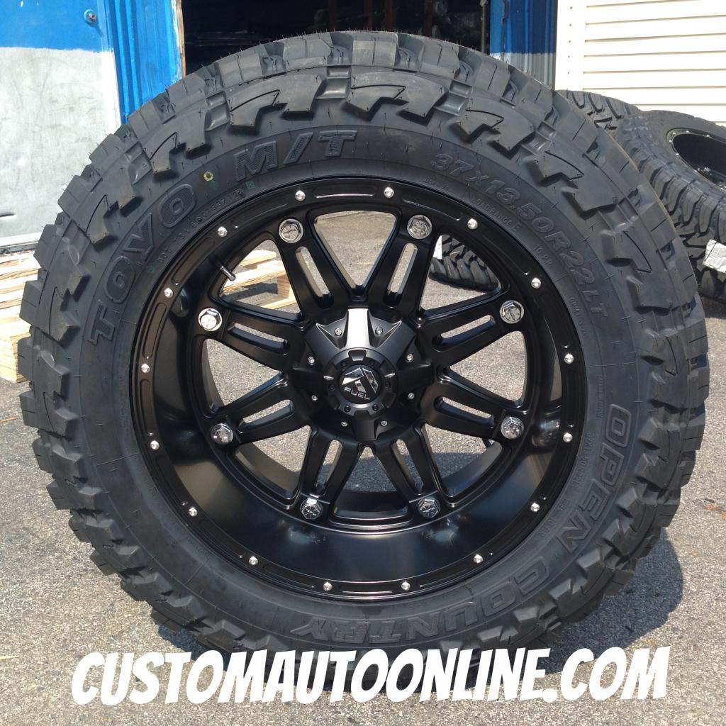 22x11 Fuel Offroad Hostage D531 Black - 37x13.50r22 Toyo Open Country MT