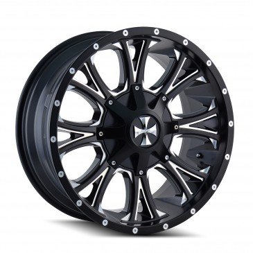 Cali Offroad Americana 9101 - Satin Black and Milled
