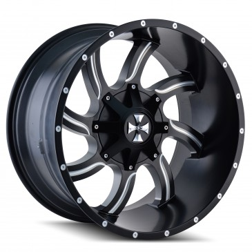 Cali Offroad Twisted 9102 - Satin Black and Milled