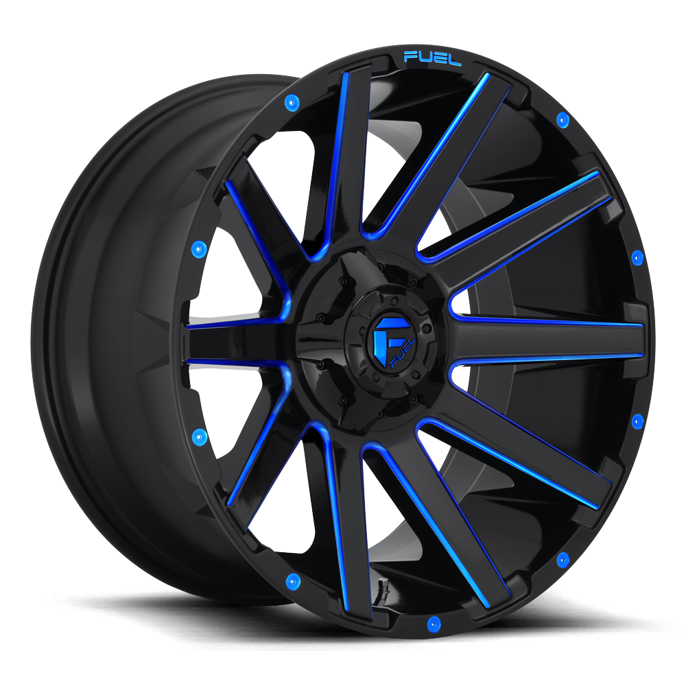 Fuel Contra D644 - Gloss Black and Blue Milled