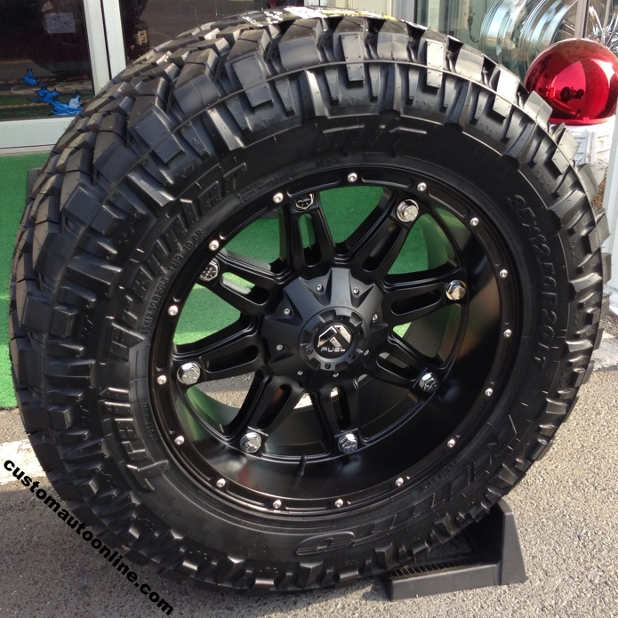 20x10 Black Kmc Xd Monster Wheels With Nitto Trail