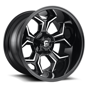 Fuel Avenger D606 - Gloss Black and Milled