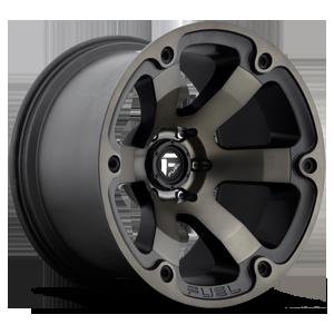 Fuel Beast D564 - Matte Black with Dark Tint Machined