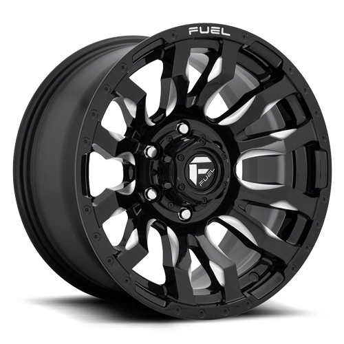 Fuel Blitz D673 - Gloss Black and Milled