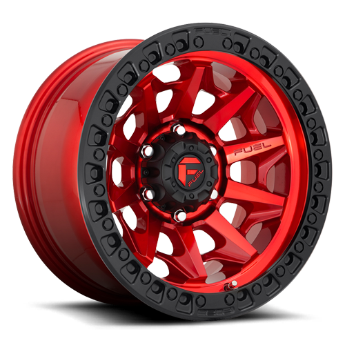 Fuel Covert D695 - Candy Red with Matte Black Ring