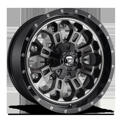 Fuel Crush D561 - Gloss Black with Dark Tint Machined