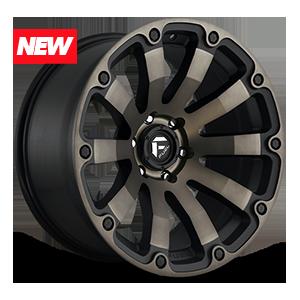 Fuel Diesel D636 - Matte Black with Dark Tint Machined