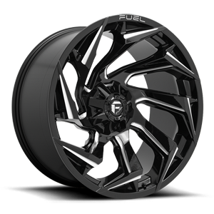 Fuel Reaction D753 - Gloss Black and Milled