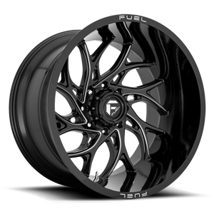 Fuel Runner D741 - Gloss Black and Milled