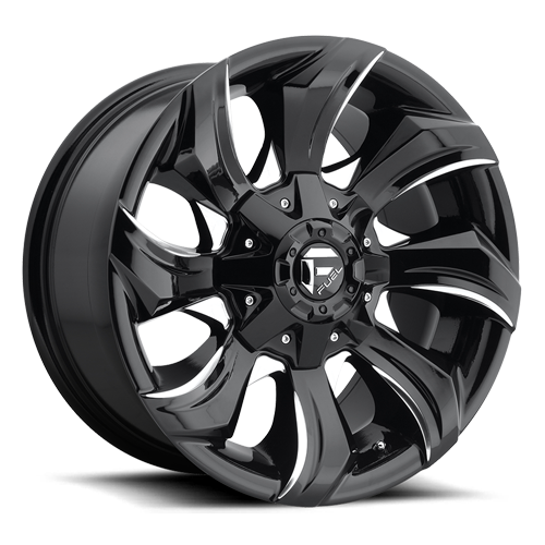 Fuel Stryker D571 - Gloss Black and Milled