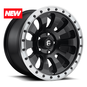 Fuel Tactic D629 - Matte Black with Machined Lip