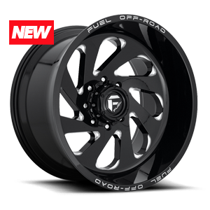 Fuel Vortex D637 - Gloss Black and Milled