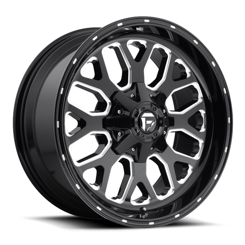 Fuel Titan D588 - Gloss Black and Milled