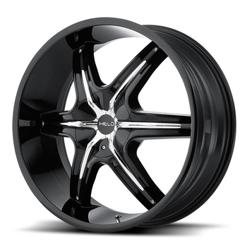Helo Wheels HE891 - Black with Chrome Inserts