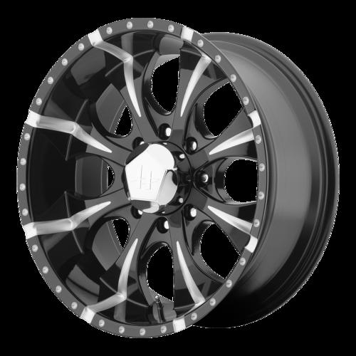 Helo Wheels HE791 - Black and Milled