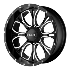 Helo Wheels HE879 - Black and Machined
