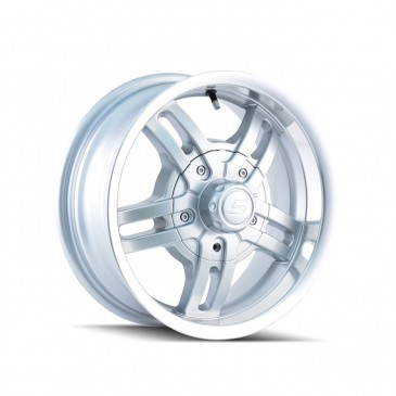 Ion Alloy Trailer Wheel Style 12 - Silver with Machined Lip
