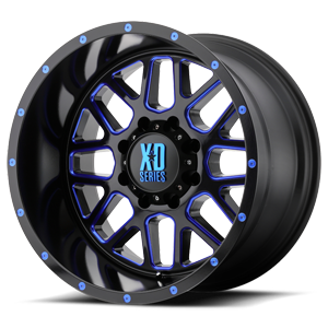 XD Grenade 820 - Satin Black and Milled with Gloss Blue Clear Coat