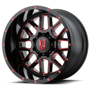 XD Grenade 820 - Satin Black and Milled with Gloss Red Clear Coat
