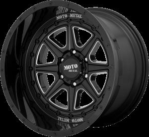 Moto Metal MO801 Phantom - Gloss Black and Milled