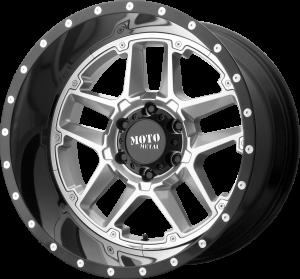 Moto Metal MO987 Sentry - Gloss Silver with Black Lip