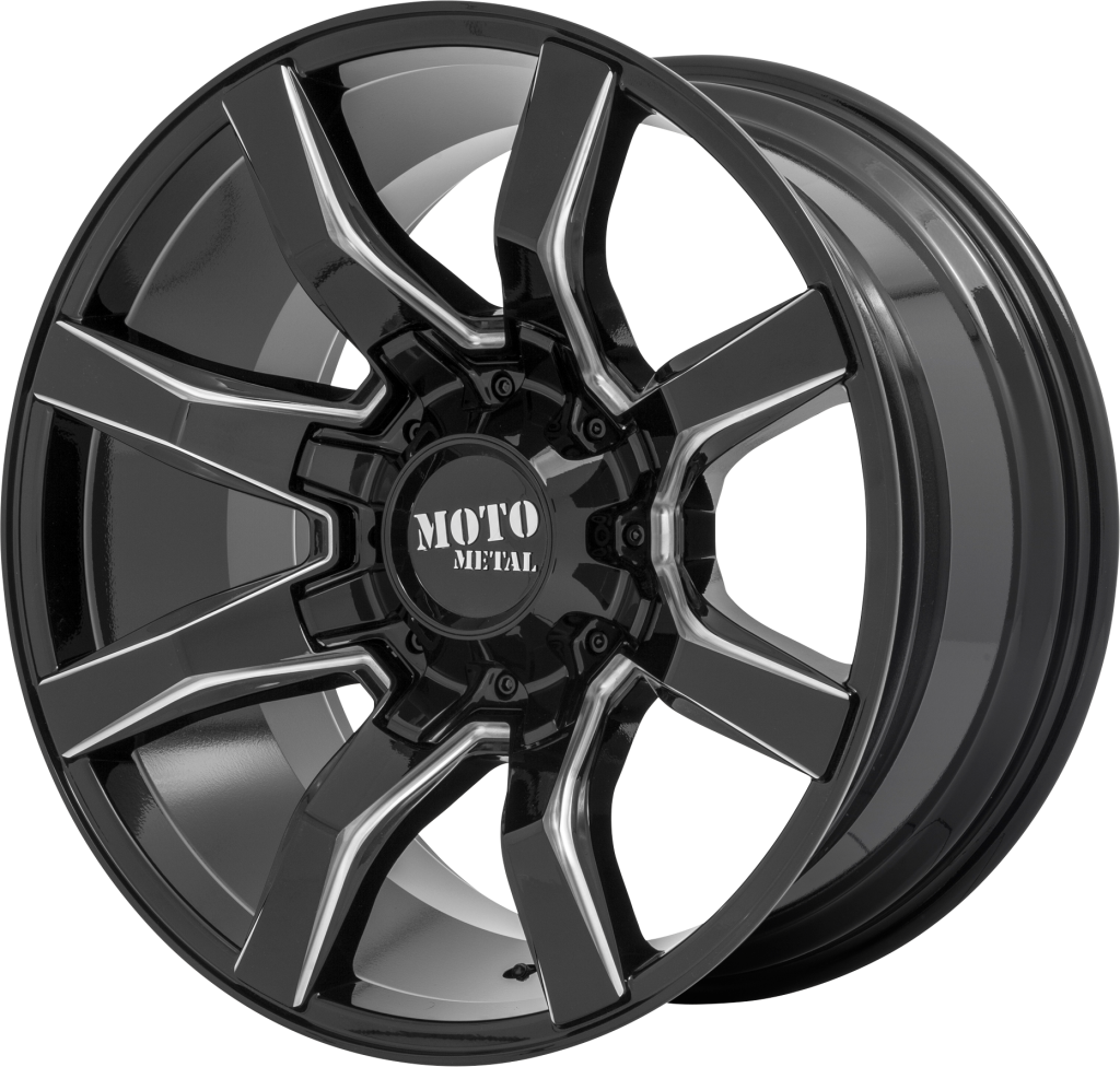 Moto Metal MO804 Spider - Gloss Black and Milled