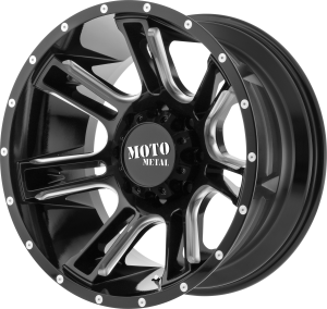 Moto Metal MO982 Amp - Gloss Black and Milled