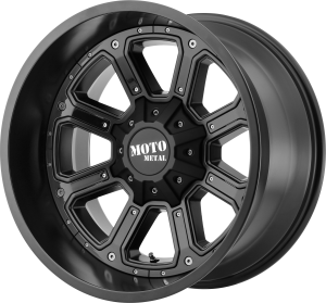 Moto Metal MO984 Shift - Satin Black with Gloss Black Inserts