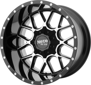 Moto Metal MO986 Siege - Gloss Black and Machined