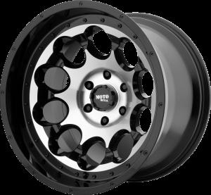 Moto Metal MO990 Rotary - Black and Machined