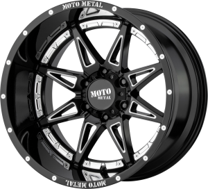 Moto Metal MO993 Hydra - Gloss Black and Milled with chrome accents