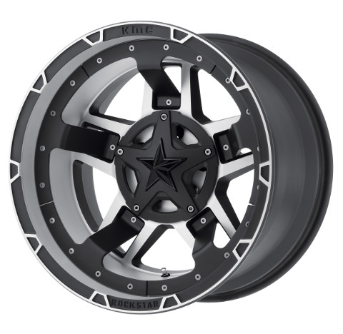 KMC XD Rockstar III RS3 XD827 - Matte Black and Machined