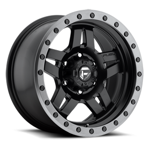 Fuel Anza D557 - Matte Black with Anthracite Ring