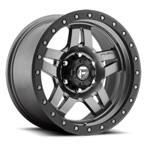 Fuel Anza D558 - Matte Anthracite with Black Ring