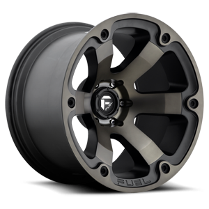 Fuel Beast D564 - Matte Black with Dark Tint Machined