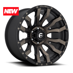 Fuel Blitz D674 - Matte Black with Dark Tint Machined Face
