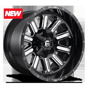 Fuel Hardline D620 - Gloss Black and Milled